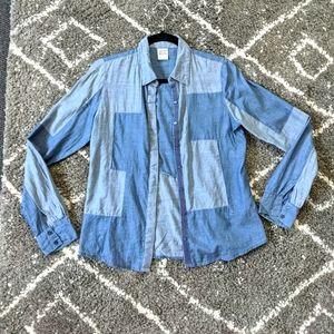 ⚡3/$20⚡Vero Moda denim look shirt sz:S